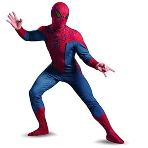 Mens Deluxe The Amazing SPIDERMAN Costume Size XL